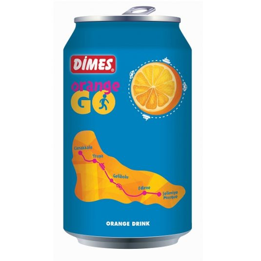20403 Dimes Go Sinaasappel 330ml