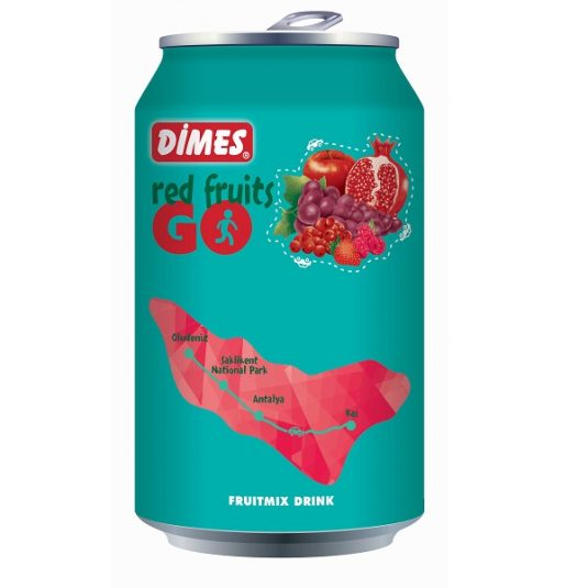 20415 Dimes Go Red Fruitmix 330ml