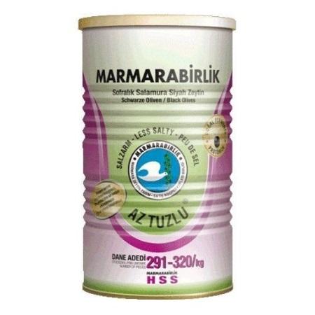 10573 Marmara Birlik Zwarte Olijven Weinig Gezouten 800gr