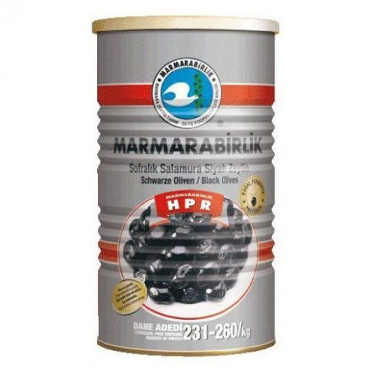 10580 Marmara Birlik Zwarte Olijven HIPER 800gr